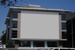 Tabellone per le affissioni in bianco all'aperto, pubblicità all'aperto Fotografie Stock