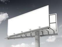 Tabellone per le affissioni in bianco bianco rappresentazione 3d royalty illustrazione gratis