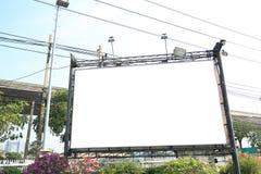 tabellone per le affissioni in bianco in città Immagini Stock Libere da Diritti