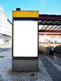Tabellone per le affissioni in bianco - citylight Fotografia Stock Libera da Diritti