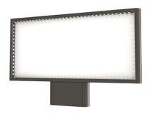 Tabellone per le affissioni in bianco, con gli indicatori luminosi, percorso di residuo della potatura meccanica Fotografia Stock