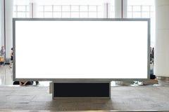 Tabellone per le affissioni in bianco di Digital con lo spazio per la pubblicità, pubblico della copia immagine stock