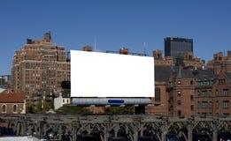 Tabellone per le affissioni in bianco di Nyc fotografie stock