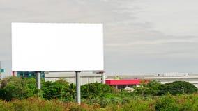 Tabellone per le affissioni in bianco pronto per la pubblicità Fotografia Stock