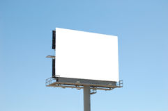 Tabellone per le affissioni in bianco quadrato Fotografie Stock