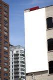 Tabellone per le affissioni in bianco su costruzione Immagine Stock Libera da Diritti