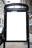 Tabellone per le affissioni in bianco sulla via Fotografie Stock