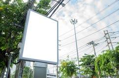 Tabellone per le affissioni in bianco verticale Immagine Stock