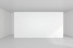 Tabellone per le affissioni in bianco vuoto nell'interno bianco rappresentazione 3d Fotografia Stock Libera da Diritti