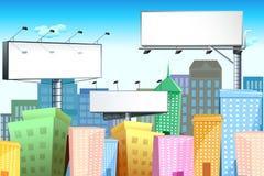 Tabellone per le affissioni In città Fotografia Stock