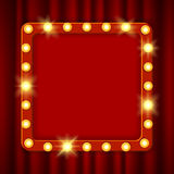 Tabellone per le affissioni d'ardore sospeso del cinema Immagini Stock
