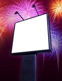 Tabellone per le affissioni dei fuochi d'artificio Fotografie Stock Libere da Diritti