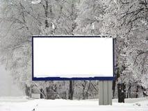 Tabellone per le affissioni della neve Immagine Stock