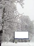 Tabellone per le affissioni della neve Immagini Stock Libere da Diritti