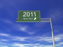 tabellone per le affissioni della strada principale 3D: 2011 illustrazione vettoriale