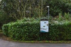 Tabellone per le affissioni della traccia di Hillingdon Fotografia Stock
