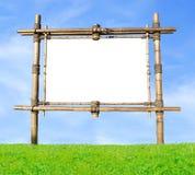 Tabellone per le affissioni di bambù Fotografia Stock