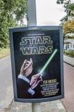 Tabellone per le affissioni di Centercom da Star Wars John Williams Suite At The Netherlands 2018 fotografie stock