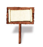 Tabellone per le affissioni di legno Immagini Stock