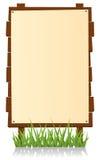 Tabellone per le affissioni di legno verticale illustrazione di stock