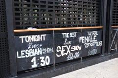 Tabellone per le affissioni di manifestazione del sesso fotografie stock libere da diritti