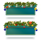Tabellone per le affissioni di Natale di vettore Fotografia Stock