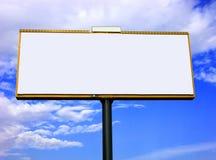 Tabellone per le affissioni di pubblicità in bianco Fotografie Stock Libere da Diritti