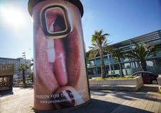 Tabellone per le affissioni di pubblicità di un night-club Immagine Stock