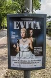 Tabellone per le affissioni Evita At Amsterdam The Netherlands 2018 di Centercom immagini stock