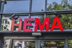 Tabellone per le affissioni HEMA At Amsterdam The Netherlands 2018 immagine stock