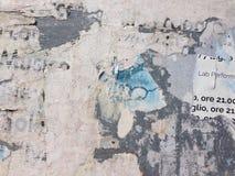 Tabellone per le affissioni italiano Immagini Stock