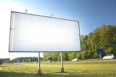 Tabellone per le affissioni per la pubblicità immagini stock libere da diritti
