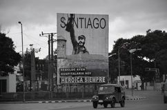 Tabellone per le affissioni in Santiago de Cuba Fotografia Stock