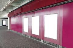 Tabellone per le affissioni tre nel centro commerciale Immagine Stock Libera da Diritti