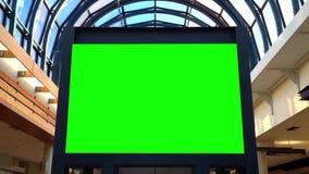 Tabellone per le affissioni verde per il vostro annuncio stock footage