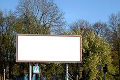 Tabellone per le affissioni vuoto Fotografia Stock Libera da Diritti
