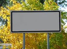Tabellone per le affissioni vuoto Fotografia Stock