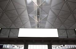Tabellone per le affissioni vuoto in aeroporto Immagini Stock Libere da Diritti