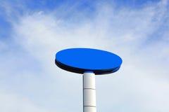 Tabellone per le affissioni vuoto blu Fotografia Stock Libera da Diritti