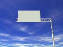 Tabellone per le affissioni vuoto della strada principale illustrazione vettoriale