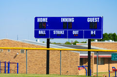 Tabellone segnapunti di baseball Immagine Stock