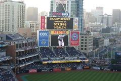 Tabellone segnapunti della sosta di Petco - San Diego Padres immagine stock libera da diritti