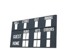Tabellone segnapunti di baseball Fotografia Stock Libera da Diritti