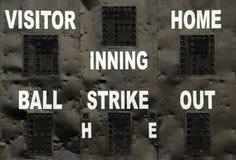 Tabellone segnapunti di baseball Immagine Stock Libera da Diritti
