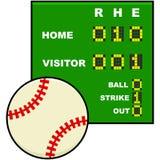 Tabellone segnapunti di baseball illustrazione di stock