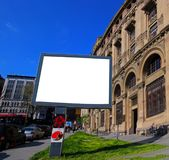 Tabelloni per le affissioni in bianco di Costantinopoli per la pubblicità del manifesto - tabellone per le affissioni all'aperto fotografia stock