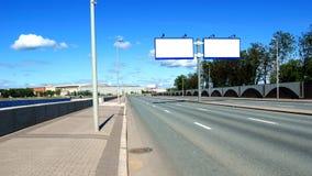 Tabelloni per le affissioni della strada principale immagini stock