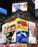 Tabelloni per le affissioni di manifestazione di Broadway Fotografia Stock Libera da Diritti