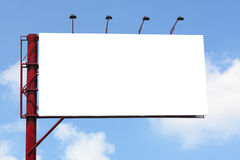 Tabelloni per le affissioni per annunciare il vostro animale domestico con un fondo del cielo blu Fotografia Stock Libera da Diritti