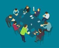 Tabellsamtal Lagaffärsfolk som möter konferensen Arkivbilder